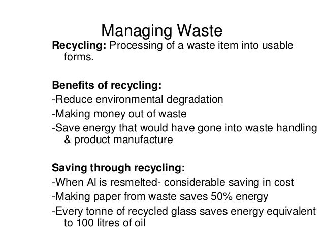 waste water management essay Waste management is devoted to the presentation and discussion of information on solid waste generation, characterization, minimization, collection .