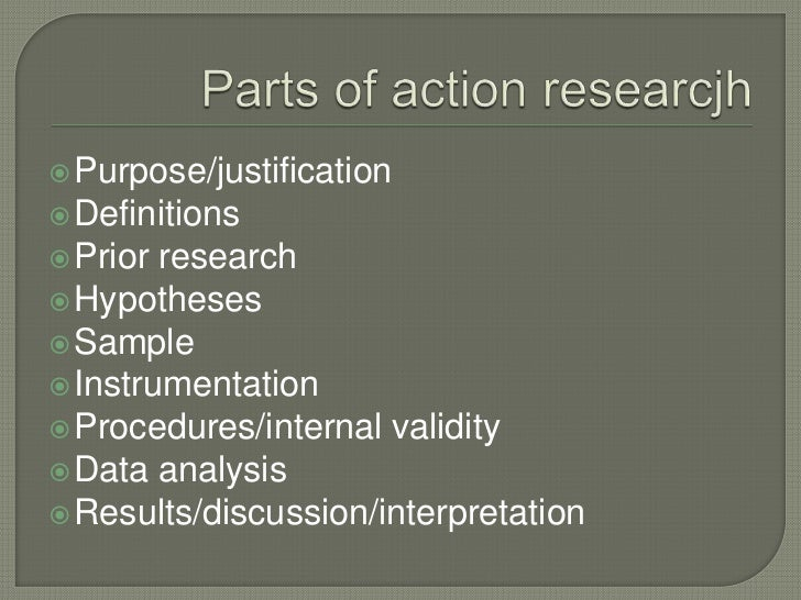 parts of an action research paper