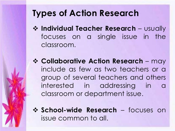 what is an action research paper Action research is the process through which teachers collaborate in evaluating their practice jointly raise awareness of their personal theory articulate a shared conception of values try out new strategies to render the values expressed in their practice more consistent with the educational values they espouse record their work in a form.