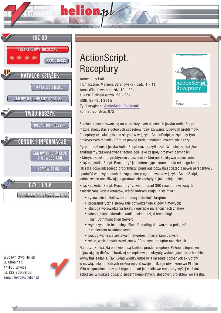 ActionScript. Receptury