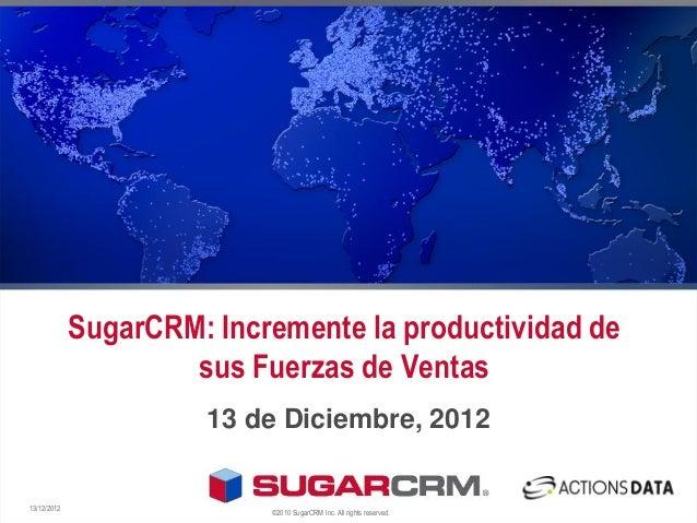 SugarCRM - Presentación en OpenExpo Madrid por ActionsDATA