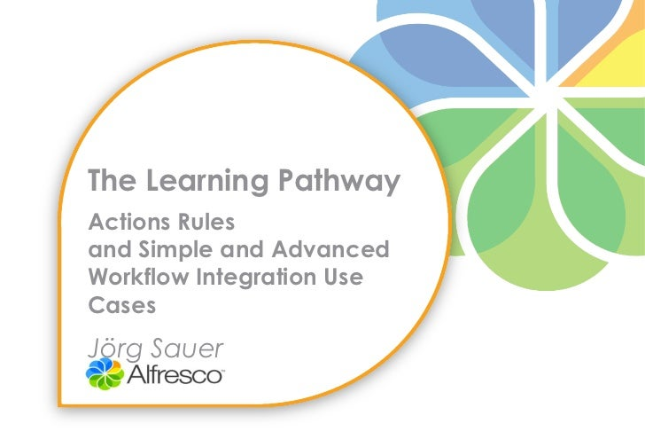 The Learning PathwayActions Rulesand Simple and AdvancedWorkflow Integration UseCasesJörg Sauer