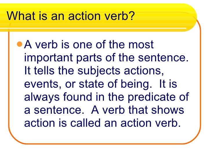 what are some action verbs