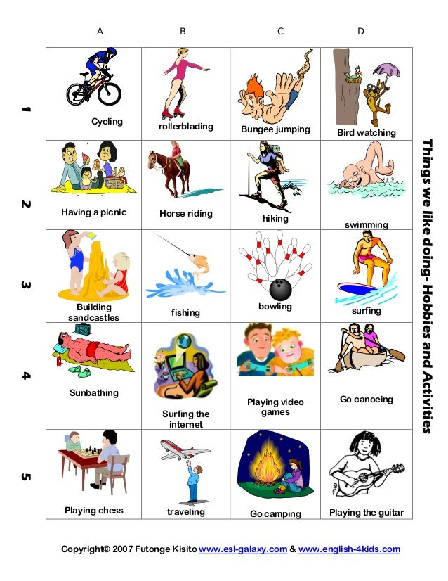 Action verbs sports-hobbies-olympics