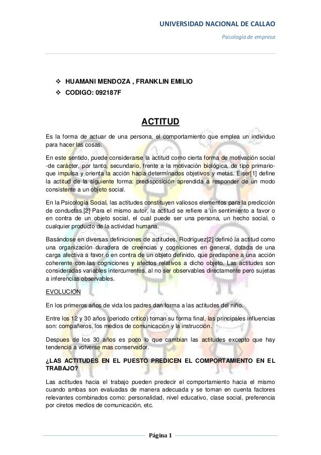 UNIVERSIDAD NACIONAL DE CALLAO                                                                     Psicología de empresa  ...