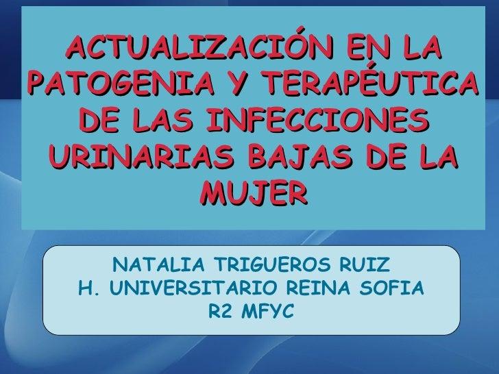 ACTUALIZACIÓN EN LA PATOGENIA Y TERAPÉUTICA DE LAS INFECCIONES URINARIAS BAJAS DE LA MUJER NATALIA TRIGUEROS RUIZ H. UNIVE...