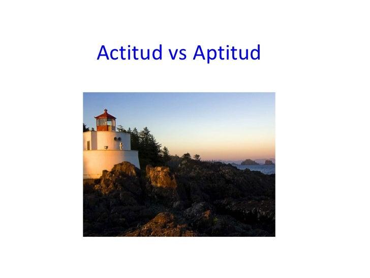 Actitud vs aptitud