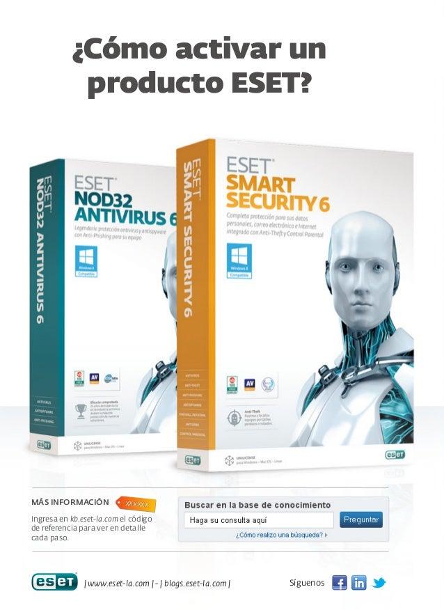 ¿Cómo activar un producto ESET?