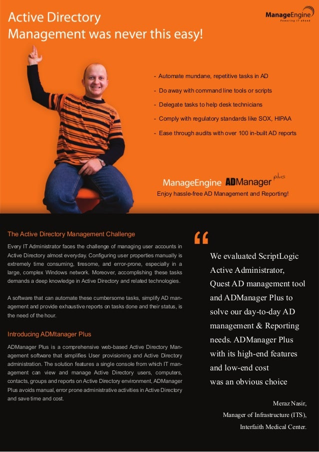 Active Directory  Manager Flyer