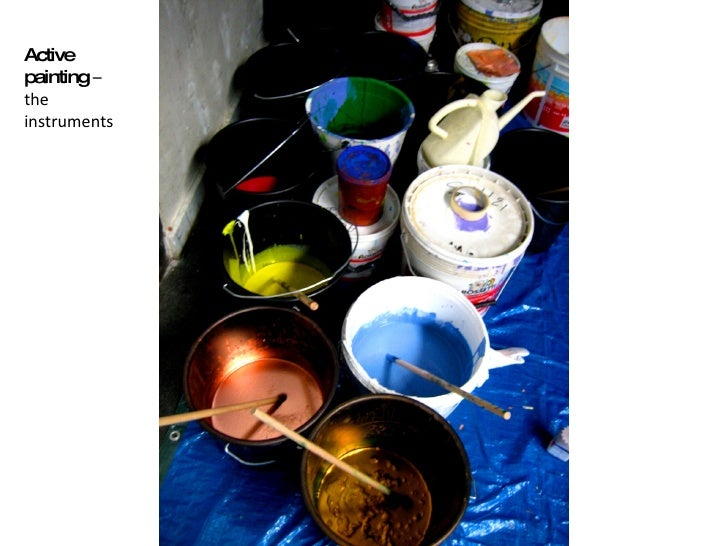 Active painting  –  the instruments