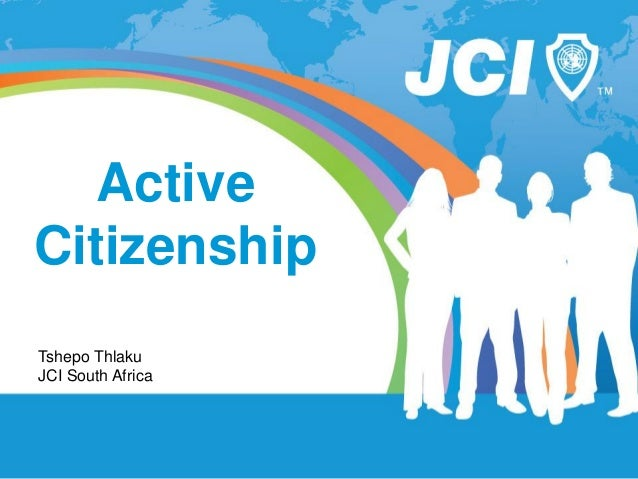 ActiveCitizenshipTshepo ThlakuJCI South Africa