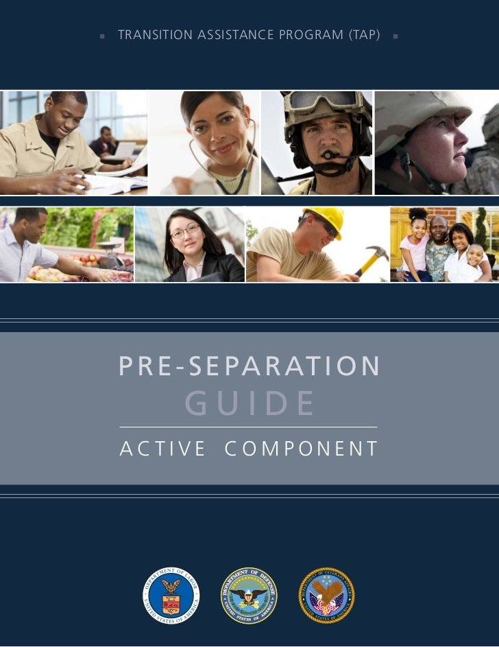    TransiTion assisTance Program (TaP)        P r e - S e Pa r at i o N             Guide     acTive comPonenT
