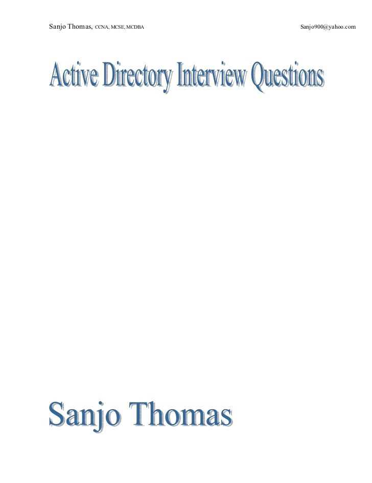 Active directory interview_questions
