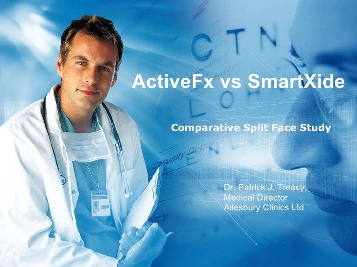 ActiveFx vs SmartXide Comparative Split Face Study Dr. Patrick J. Treacy Medical Director Ailesbury Clinics Ltd