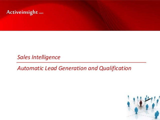 Sales Intelligence Automatic Lead Generation and Qualification Activeinsightsaas