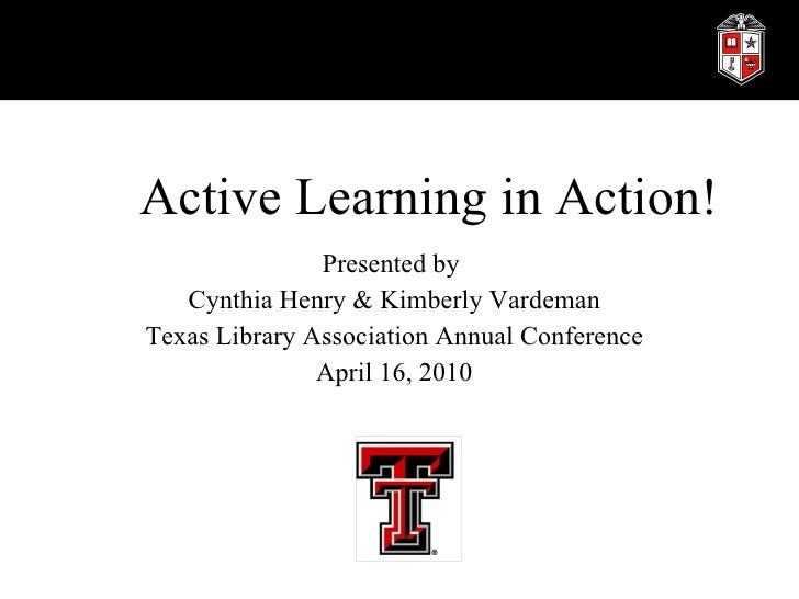 Active Learing In Action