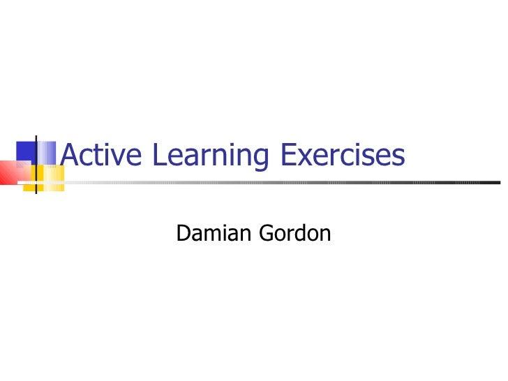 Active Learning Exercises Damian Gordon
