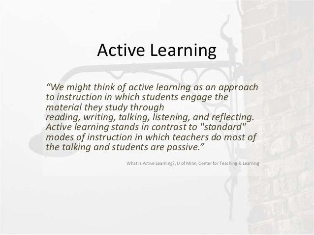Blended Design: Active learning