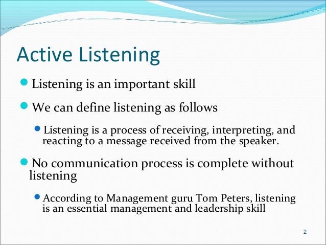 the importance of listening and the effective listening techniques The ability to actively listen has been proven to dramatically improve the capabilities of a professional salesperson ironically, listening is the least developed skill amongst salespeople were you formally trained to listen chances are your answer is no very few of us were formally taught effective listening skills most of the.