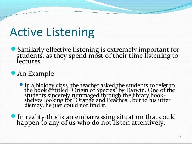 active listening and non verbal cues essay