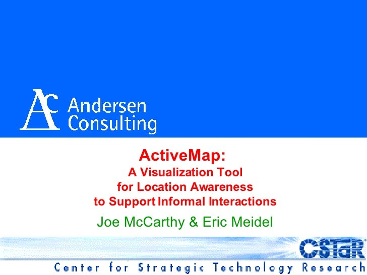 ActiveMap: A Visualization Tool for Location Awareness to Support Informal Interactions (HUC99)