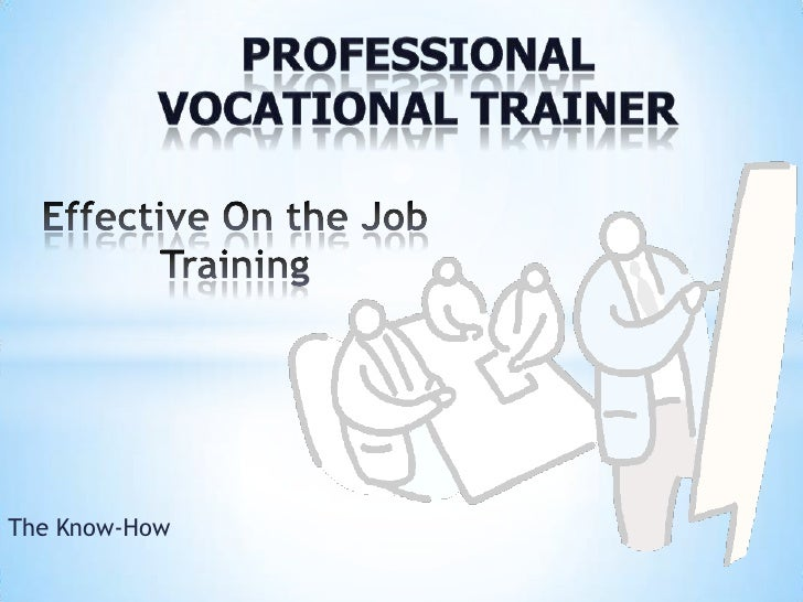 Active on job training   sample 2012