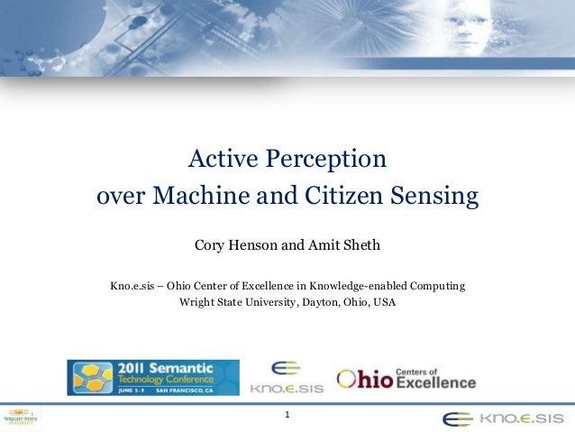 Active Perception  over Machine and Citizen Sensing