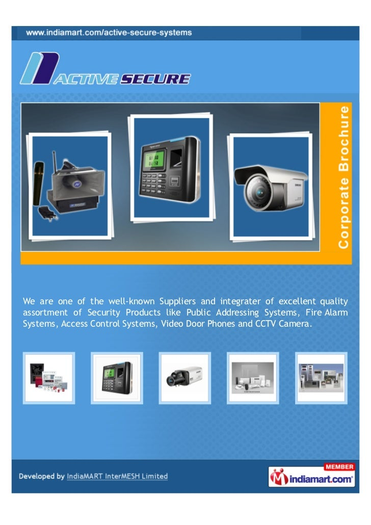 Active Secure Systems, Bengaluru, Security Products