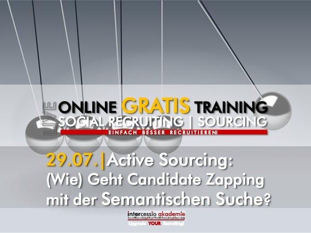 Active Sourcing - Geht Candidate Zapping mit der Semantic Search?