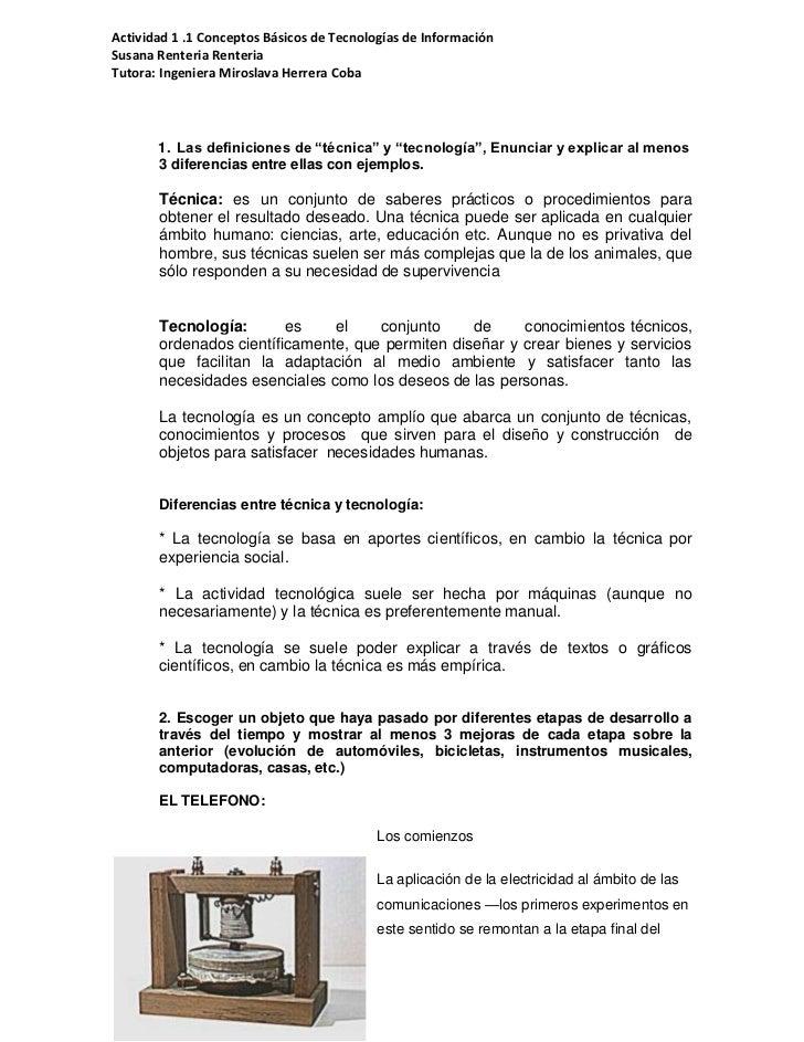 Actividad 1 .1 Conceptos Básicos de Tecnologías de InformaciónSusana Renteria RenteriaTutora: Ingeniera Miroslava Herrera ...