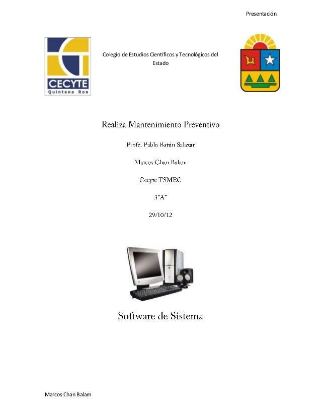 Presentación                    Colegio de Estudios Científicos y Tecnológicos del                                        ...