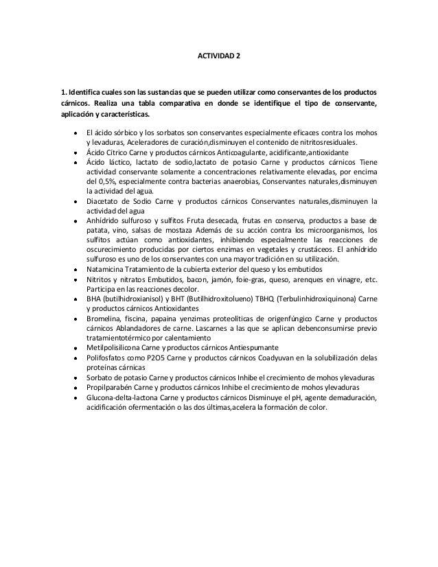 Actividad 2 Control de calidad de productos carnicos
