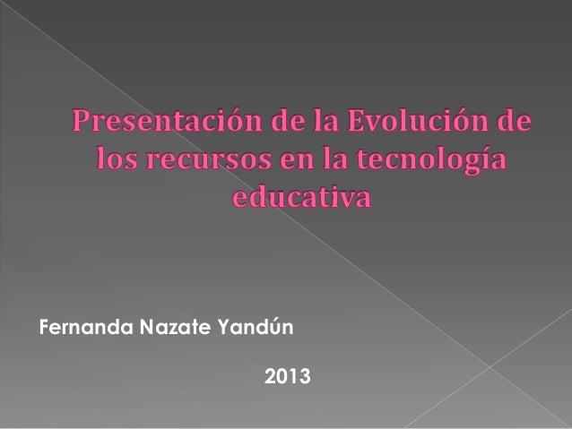 Fernanda Nazate Yandún2013