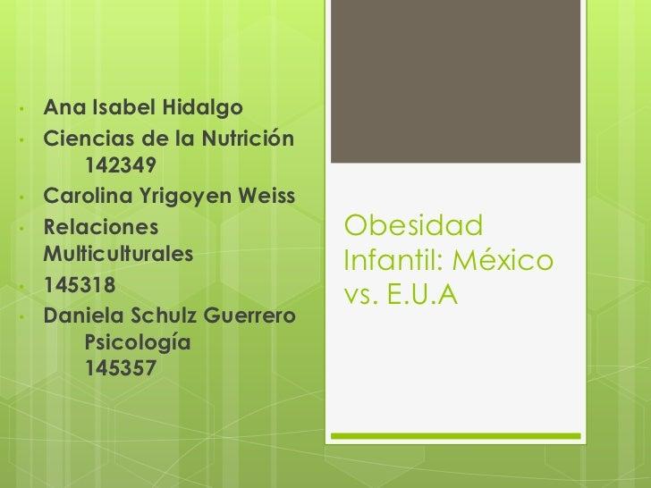 •   Ana Isabel Hidalgo•   Ciencias de la Nutrición        142349•   Carolina Yrigoyen Weiss•   Relaciones                 ...