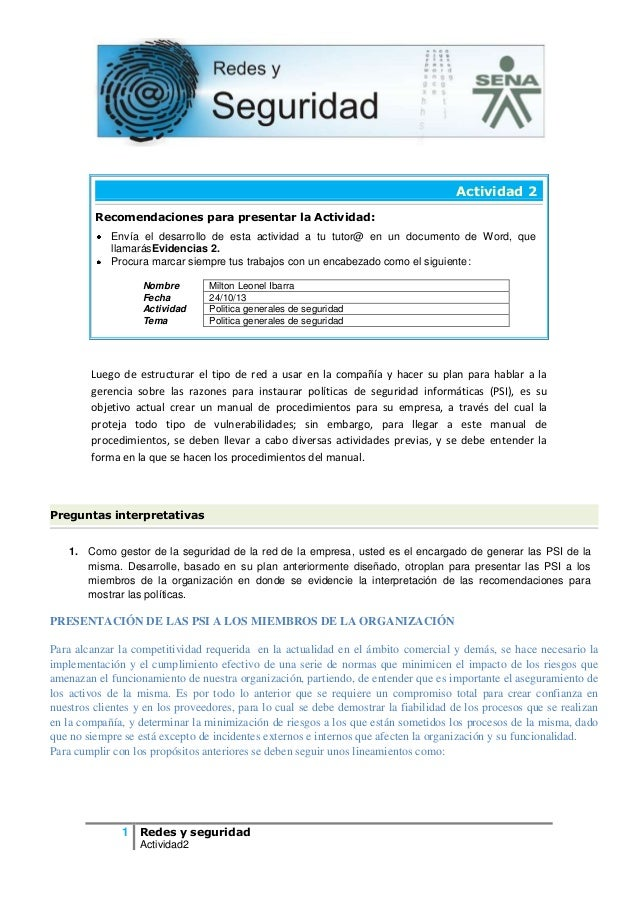 Actividad 2 Recomendaciones para presentar la Actividad: Envía el desarrollo de esta actividad a tu tutor@ en un documento...