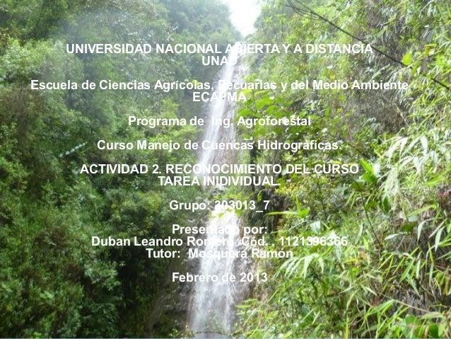 Actividad 2 manejo de cuencas hidrograficas...