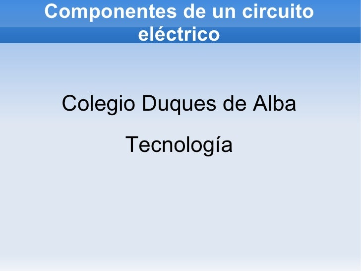 Componentes de un circuito