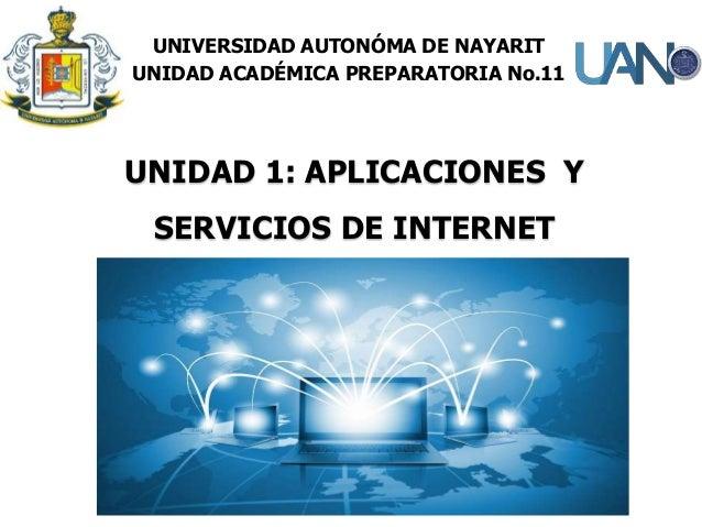 UNIDAD 1: APLICACIONES Y SERVICIOS DE INTERNET UNIVERSIDAD AUTONÓMA DE NAYARIT UNIDAD ACADÉMICA PREPARATORIA No.11