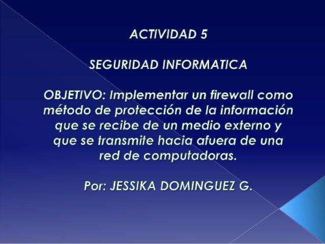 Actividad 5 seguridad informatica