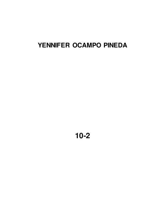 YENNIFER OCAMPO PINEDA 10-2