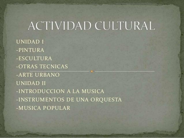 Actividad cultural