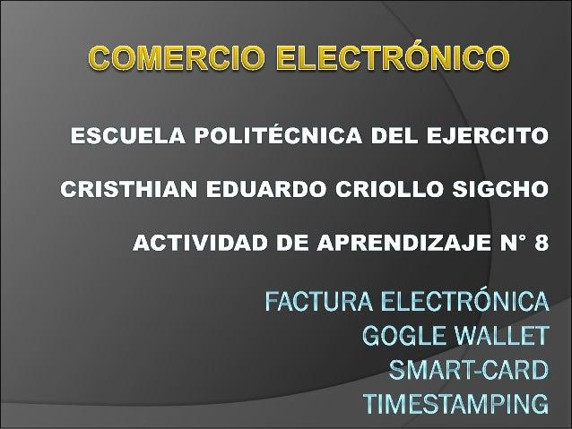 E-commerce El comercio electrónico , comúnmente conocido como e- commerce o comercio electrónico , es un tipo de industria...
