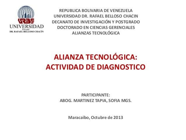 Alianza Tecnologica: Actividad de diagnostico
