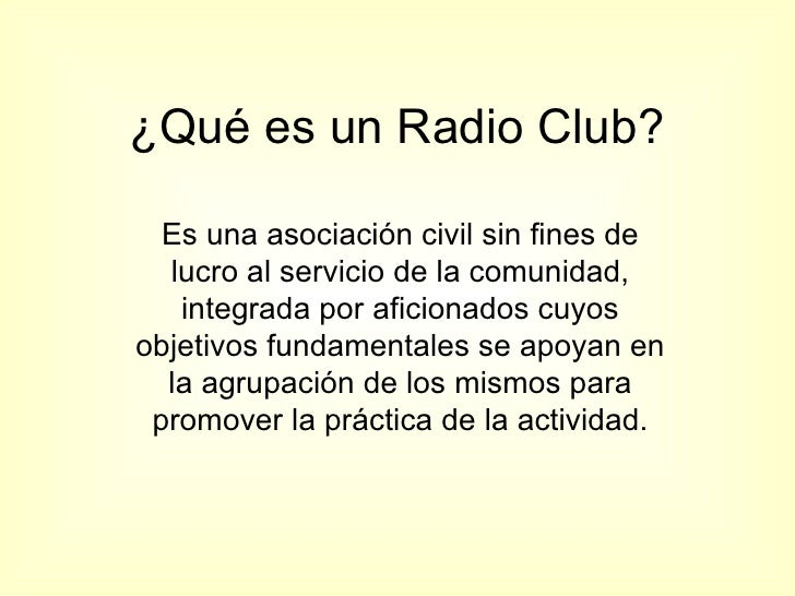Actividades de un Radio Club