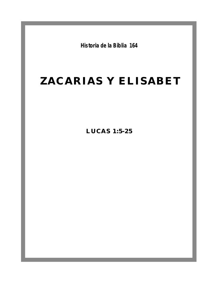 Historia de la Biblia 164ZACARIAS Y ELISABET       LUCAS 1:5-25
