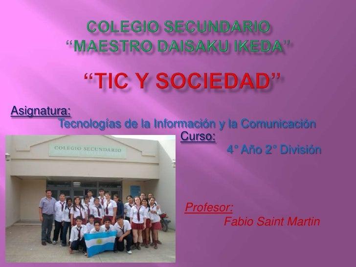 Asignatura:        Tecnologías de la Información y la Comunicación                               Curso:                   ...