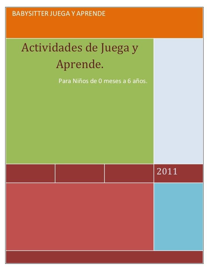 Actividades 0 a 6 años
