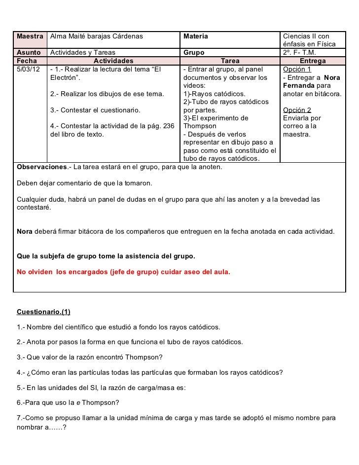 Maestra   Alma Maité barajas Cárdenas                Materia                           Ciencias II con                    ...