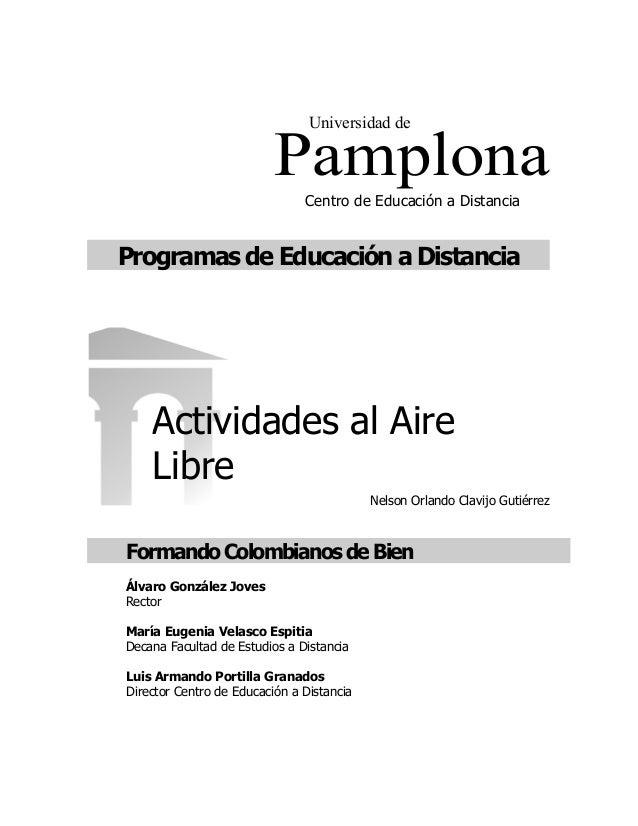 Universidad de                          Pamplona                               Centro de Educación a DistanciaProgramas de...