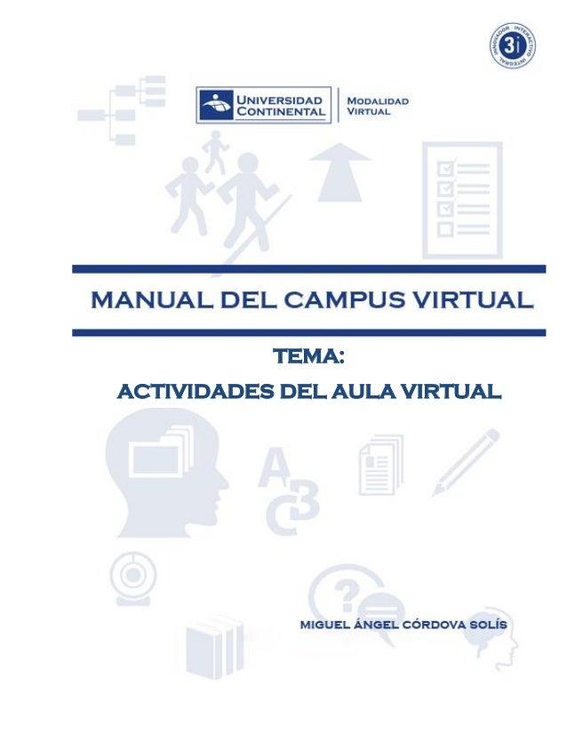 Actividades aula virtual